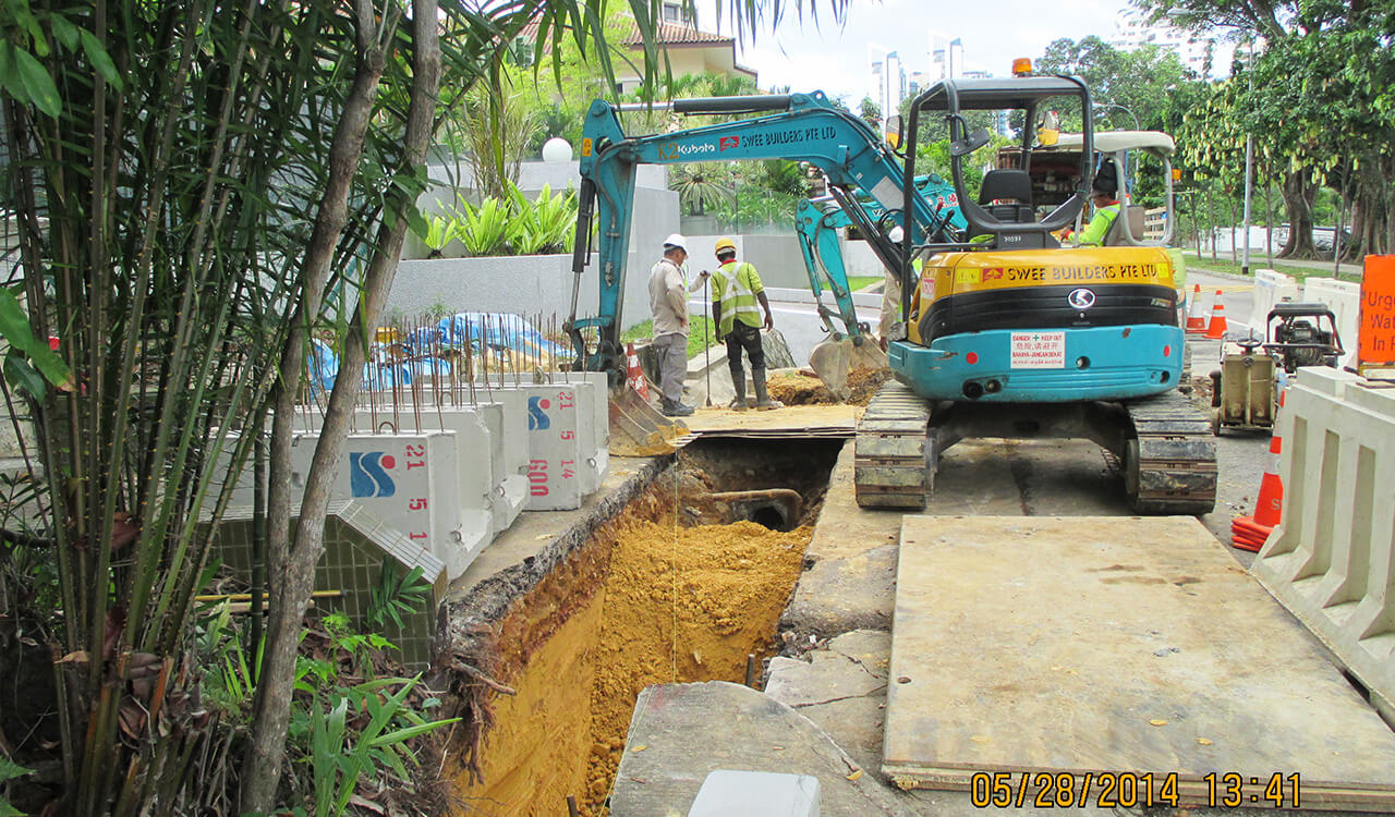 Improvement to Roadside Drains IV – Contract 3B-5 – Swee Builders